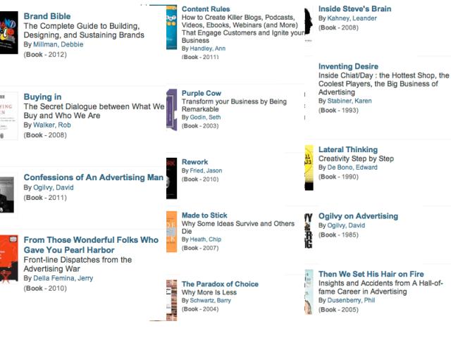 book list oglivy whipple chiat/day