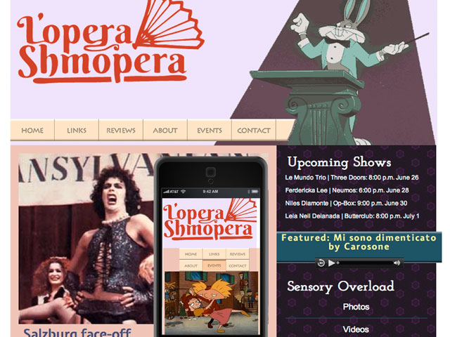 lopera shmopera website and mobile responsive