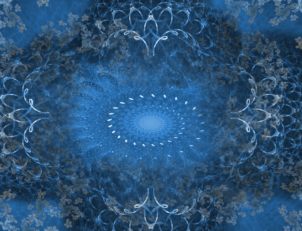 blue fractal art science for artists launch screen