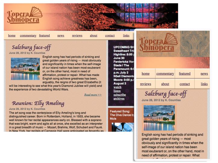 lopera shmopera web responsive desktop to phone