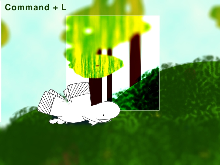 screenshot of animation featuring levels