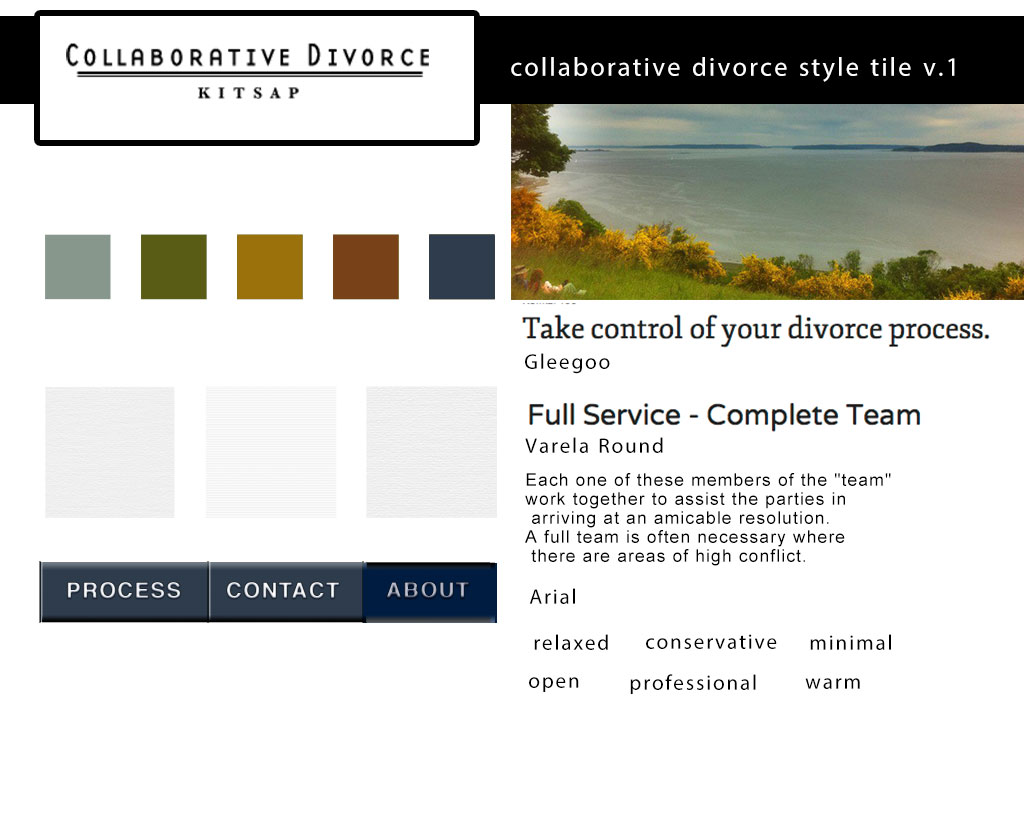 style tile for collaborative divorce website
