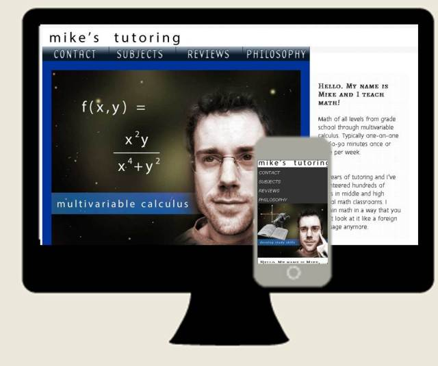 mikes responsive website