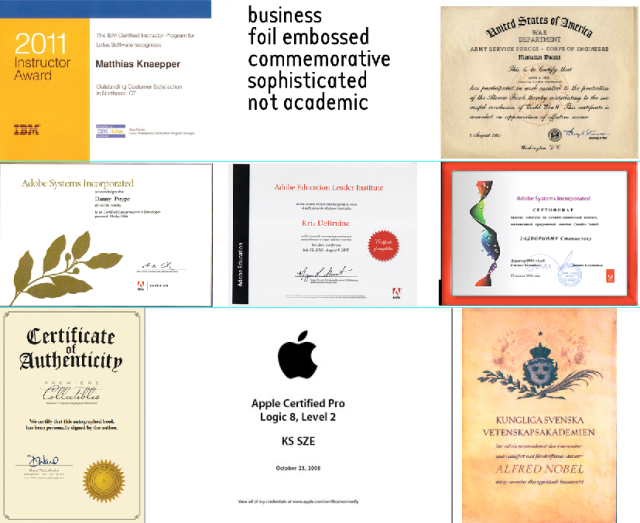 certificate inspiration