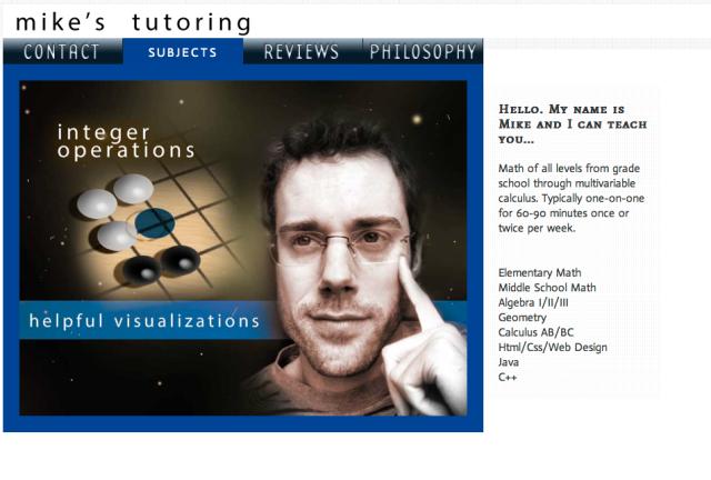 mikes tutoring website version 4