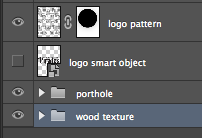 Screen shot of well named layers in photoshop