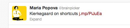 Screen shot of tweet