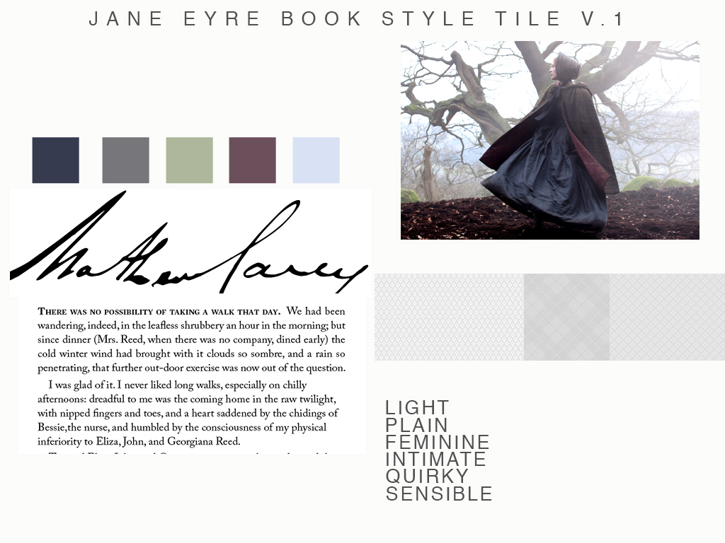 jane eyre style guide for book design