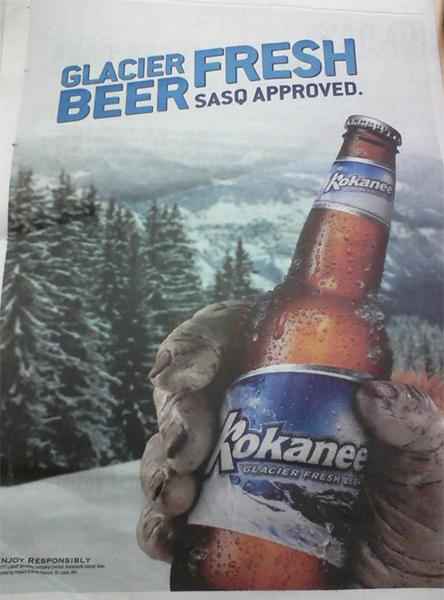kokanee beer ad