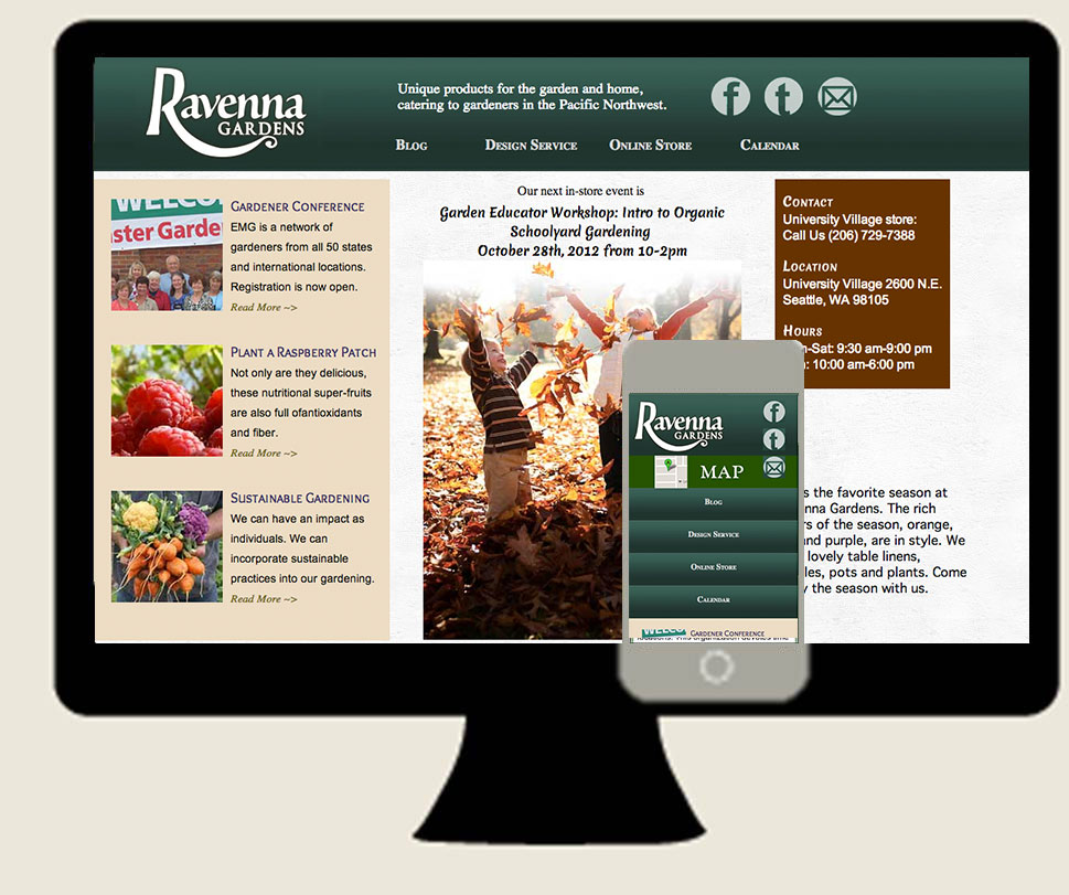 Ravenna Gardens Desktop Mobile Screenshots