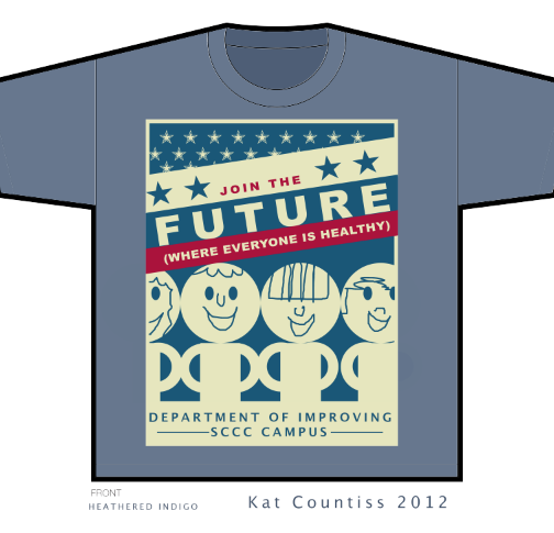 join the future tee shirt design sccc