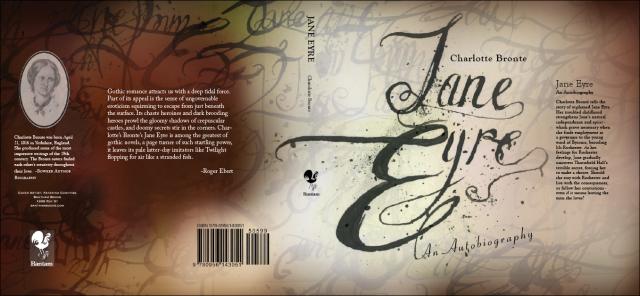 book cover design after critique Jane Eyre