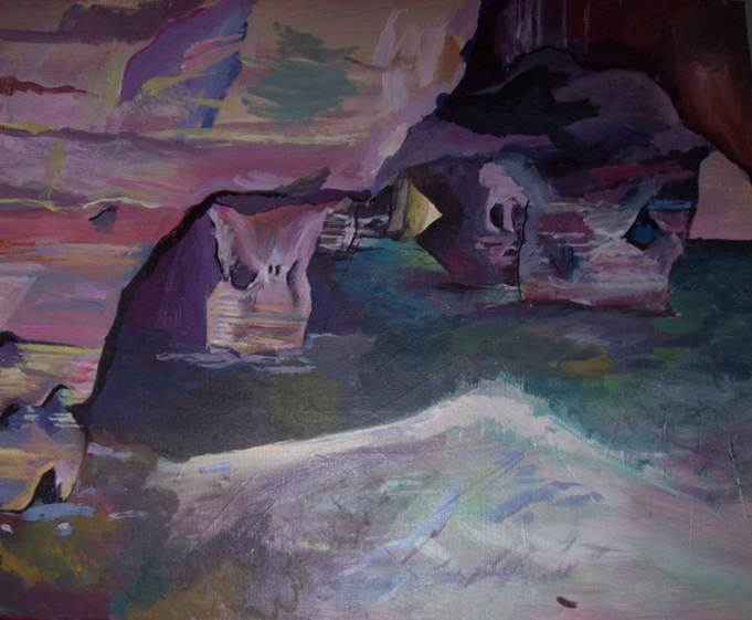 sea cave painting