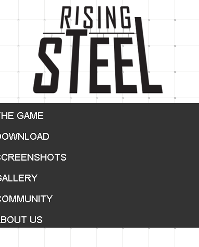 rising steel screenshot mobile website