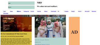 screenshot of website before reframeworking