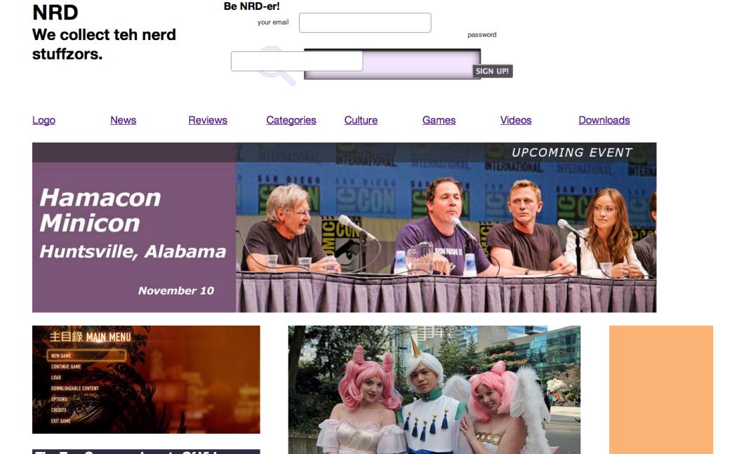 work in progress website screenshot