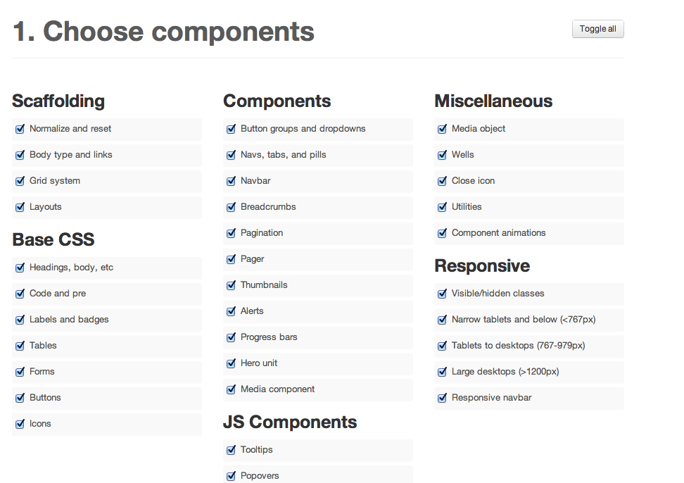 Screen Shot from Bootstrap website
