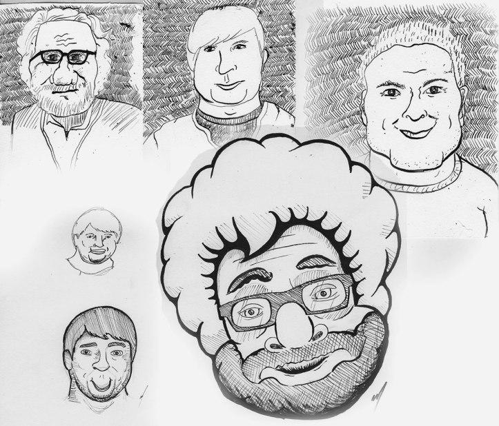 drawing club portraits of teachers