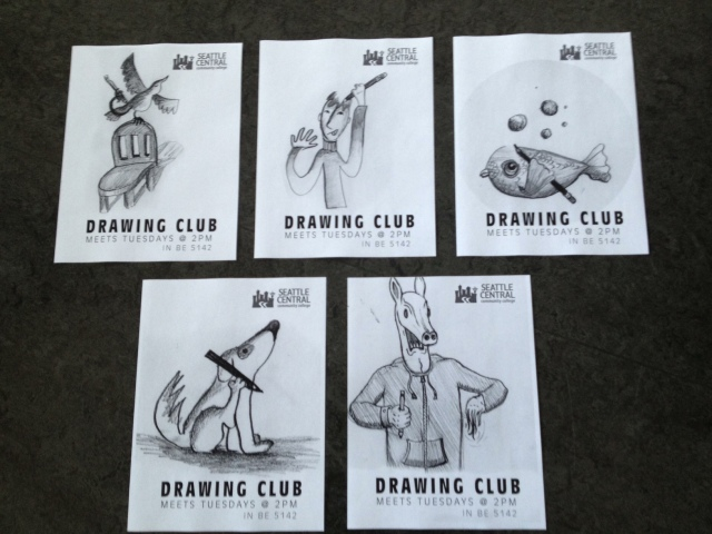 drawing club posters