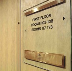 mayfair hotel room signage wayfinding