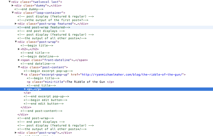 Screen Shot of Ryan's code