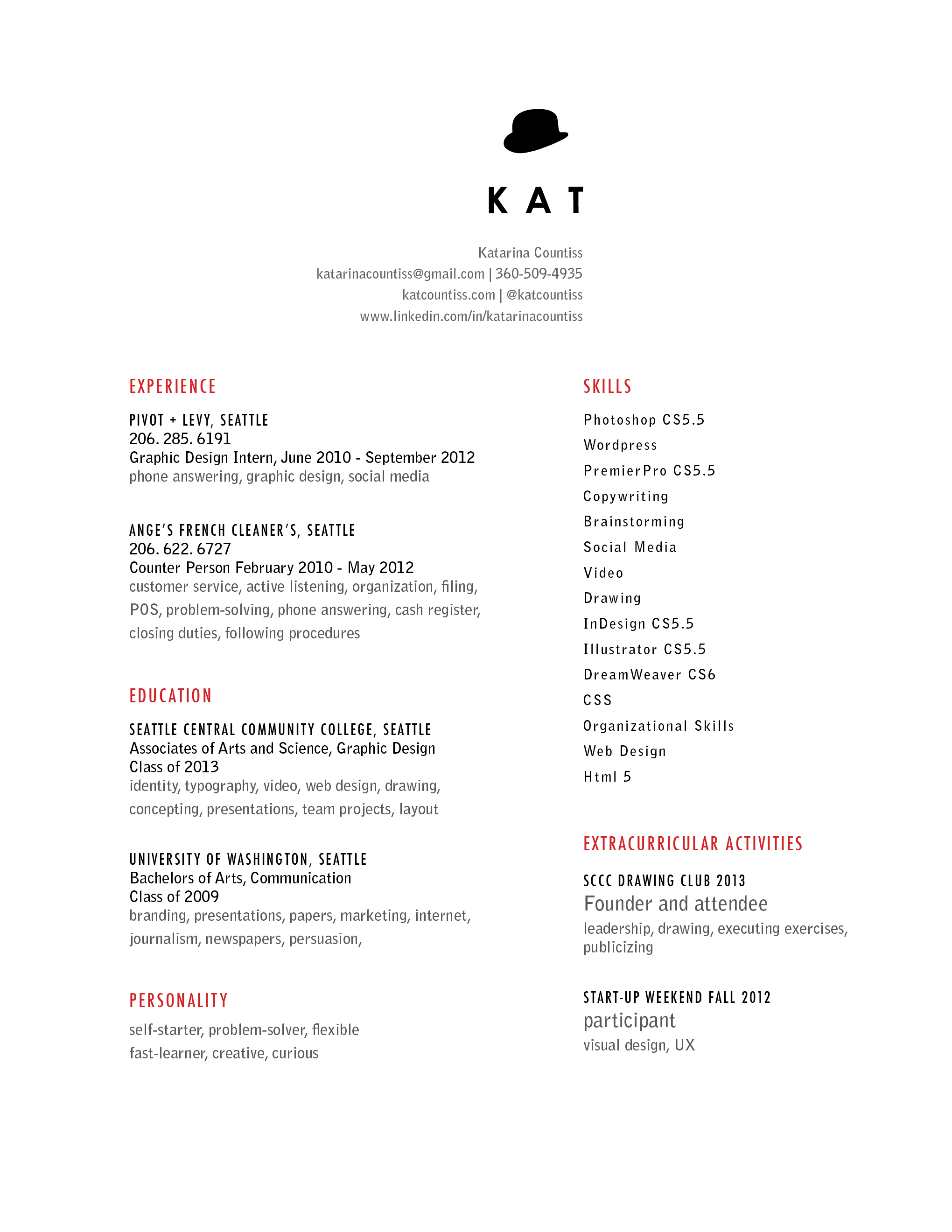 Typesetting My Resume Katablog