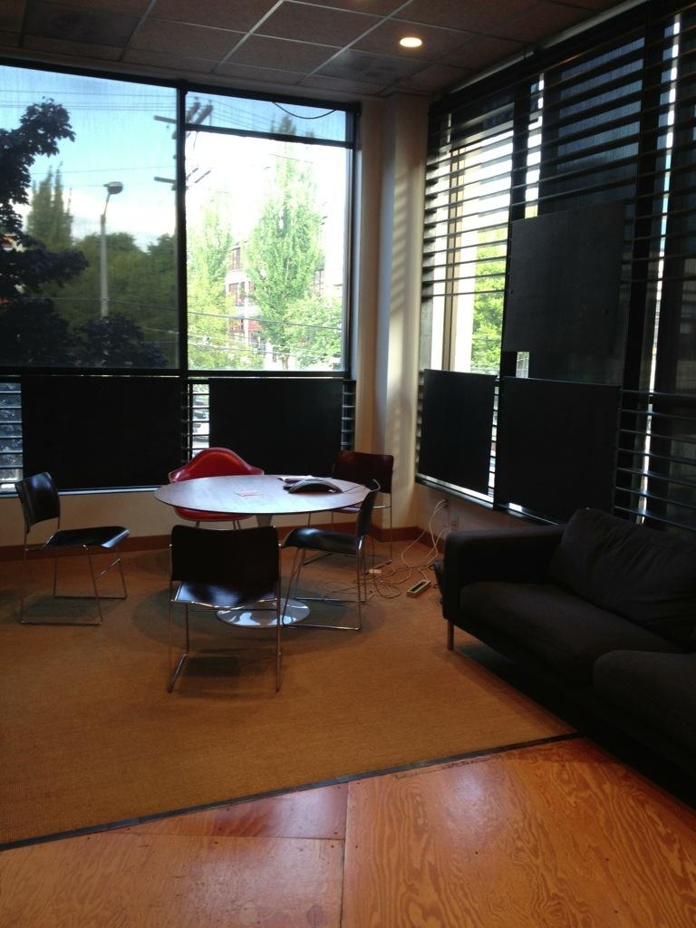 Digital Kitchen's corner conference room
