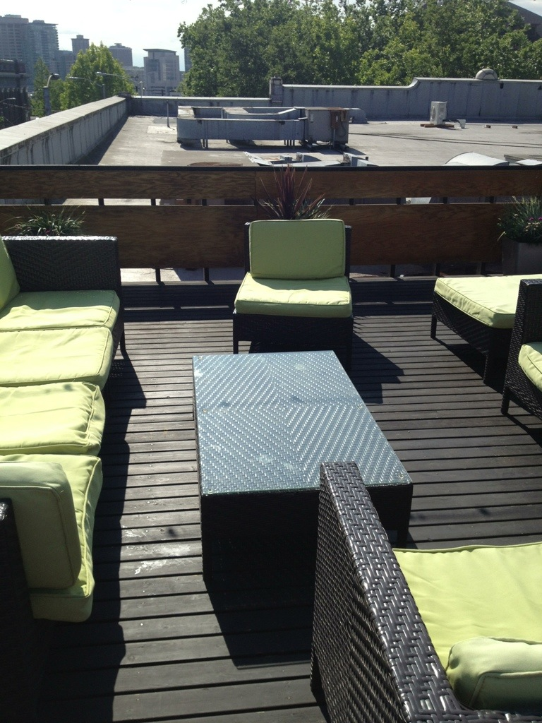 Substantial's rooftop lounge
