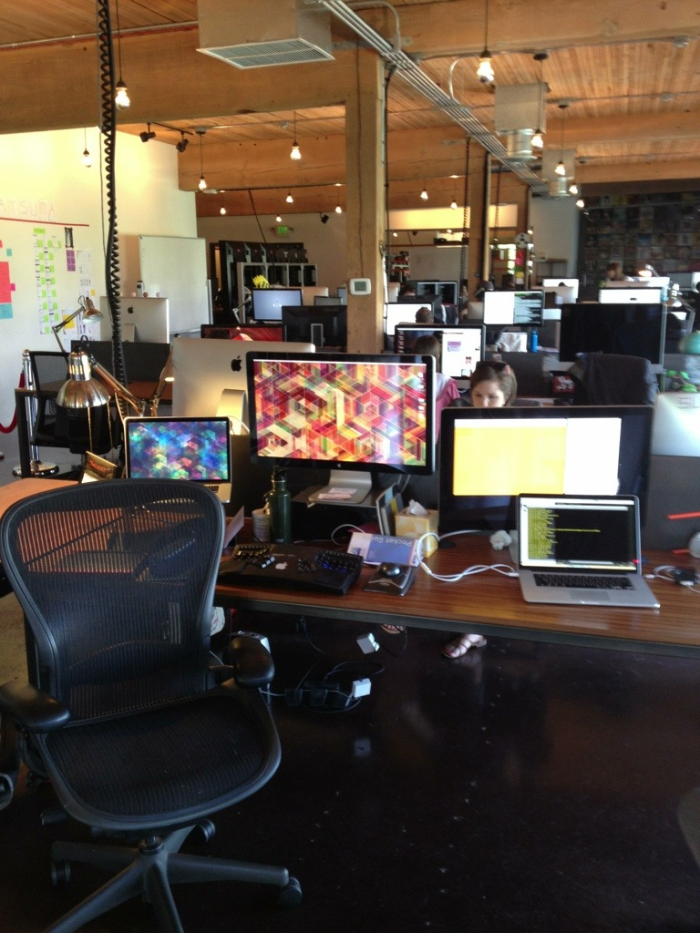 Substantial's rows of workstations