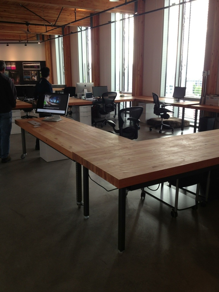 Intentional Future's work pod set-up