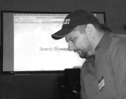 Andrew Szydlowski presenting his scene byways project