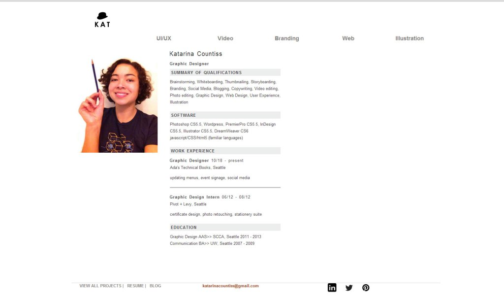 New Resume Page