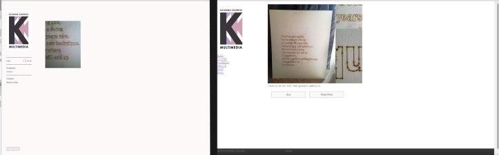 (left) shop, and my multimedia website