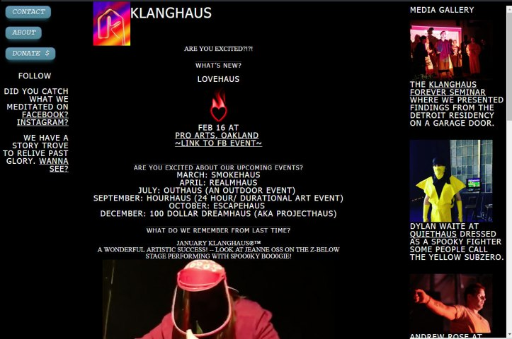 klanghaus-website