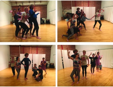 photos from devising session (photo credit Sabrina)